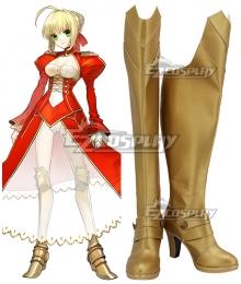 Fate EXTRA Fate Grand Order FGO Last Encore Nero Claudius Caesar Augustus Germanicus Red Saber Golden Shoes Cosplay Boots