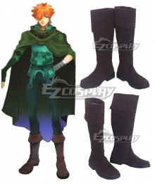 Fate EXTRA Last Encore Archer Robin Hood Brown Shoes Cosplay Boots