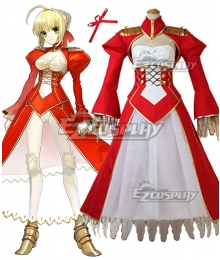 Fate EXTRA Last Encore Nero Claudius Caesar Augustus Germanicus Red Saber Cosplay Costume