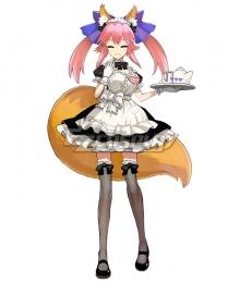 Fate Extra Tamamo No Mae Maid Cosplay Costume