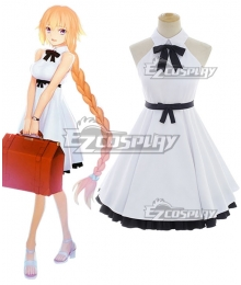 Fate Grand Order 3rd Anniversary Joan Of Arc Jeanne D'Arc White Dress Cosplay Costume