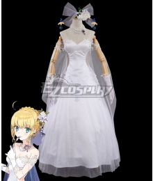 Fate Grand Order Avalon Celebrate Saber Altria Pendragon Cosplay Costume