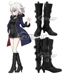 Fate Grand Order Avenger Jeanne d'Arc Joan Alter Casual Black Shoes Cosplay Boots