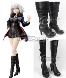 Fate Grand Order Avenger Jeanne d'Arc Joan Alter Casual Clothes Ver. Black Shoes Cosplay Boots