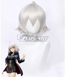 Fate Grand Order Avenger Jeanne D'Arc Joan Alter Casual Clothes Ver. Silver White Cosplay Wig