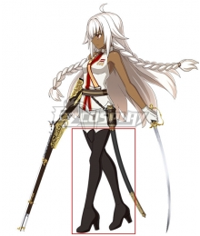 Fate Grand Order Cosmos in the Lostbelt Saber Rani of Jhansi Brown Shoes Cosplay Boots