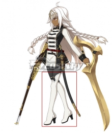 Fate Grand Order Cosmos in the Lostbelt Saber Rani of Jhansi Ascension White Shoes Cosplay Boots