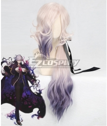 Fate Grand Order Edmond Dantes White Purple Cosplay Wig
