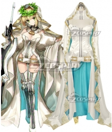Fate Grand Order Fate Extra CC Saber Nero Claudius Bride Stage 3 Cosplay Costume