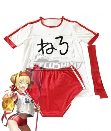 Fate Grand Order Fate EXTRA Saber Nero Claudius Caesar Augustus Germanicus Gym Clothes Cosplay Costume