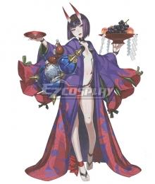 Fate Grand Order FGO Assassin Shuten Douji Long Kimono Cosplay Costume