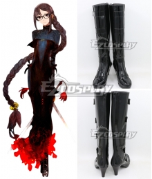 Fate Grand Order FGO Assassin Yu Miaoyi Ver1 Black Shoes Cosplay Boots