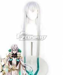 Fate Grand Order FGO Caster Asclepius White Cosplay Wig