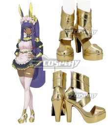 Fate Grand Order FGO Caster Nitocris Maid Golden Cosplay Shoes