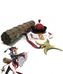 Fate Grand Order FGO FES 2019: Chaldea Park Assassin Shuten Douji Zombie Halloween Bamboo tube Hat Horn Cosplay Accessory Prop