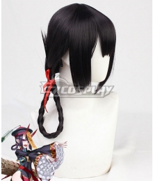 Fate Grand Order FGO FES 2019: Chaldea Park Assassin Shuten Douji Zombie Halloween Purple Black Cosplay Wig