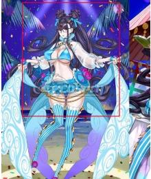 Fate Grand Order FGO Rider Murasaki Shikibu Swimsuit Stage 3 Black Cosplay Wig