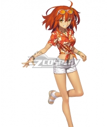 Fate Grand Order FGO Ritsuka Fujimaru Tropical Summer FeMale Master Cosplay Costume