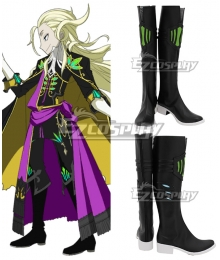 Fate Grand Order FGO  Wolfgang Amadeus Mozart Black Shoes Cosplay Boots