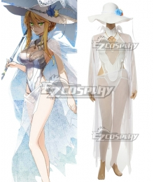Fate Grand Order Lancer Artoria Pendragon Swimsuit Cosplay Costume
