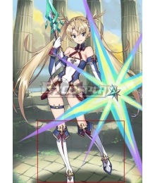 Fate Grand Order Lancer Bradamante White Shoes Cosplay Boots