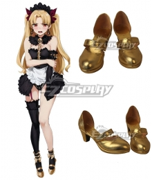 Fate Grand Order Lancer Ereshkigal Maid Golden Cosplay Shoes