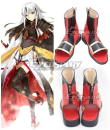 Fate Grand Order Lancer Nagao Kagetora Black Red Cosplay Shoes