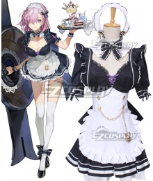 Fate Grand Order Mash Kyrielight 2020 Maid Cosplay Costume