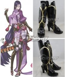 Fate Grand Order Minamoto no Yorimitsu Minamoto no Raikou Black Shoes Cosplay Boots