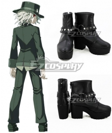 Fate Grand Order Monte Cristo Edmond Dantes Black Cosplay Shoes