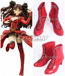 Fate Grand Order Rin Tohsaka Formal Craft Red Black Cosplay Shoes