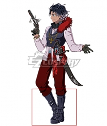Fate Grand Order Rider Bartholomew Roberts Black Shoes Cosplay Boots