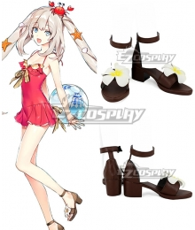 Fate Grand Order Rider Caster Marie Antoinette Swimsuit Black Cosplay Shoes