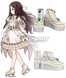 Fate Grand Order Rider Leonardo Da Vinci Gauntlets White Cosplay Shoes