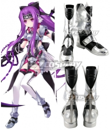 Fate Grand Order Rider Medusa Silver Shoes Cosplay Boots