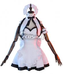 Fate Grand Order Ruler Joan of Arc Jeanne d'Arc Maid Dress Cosplay Costume