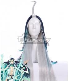 Fate Grand Order Ruler Shi Huang Di Qin Shi Huang Ying Zheng White Blue Cosplay Wig