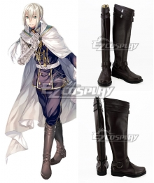 Fate Grand Order Saber Bedivere Brown Shoes Cosplay Boots