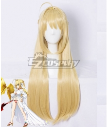 Fate Grand Order Saber Caster Nero Claudius Swimsuit Golden Cosplay Wig
