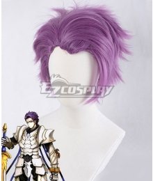 Fate Grand Order Saber Lancelot Purple Cosplay Wig