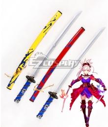 Fate Grand Order Saber Miyamoto Musashi Two Sword Cosplay Weapon Prop