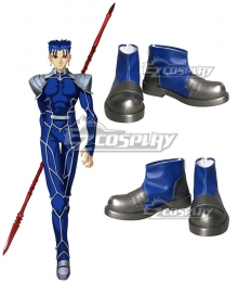Fate Stay Night Lancer Cu Chulainn Blue Cosplay Shoes