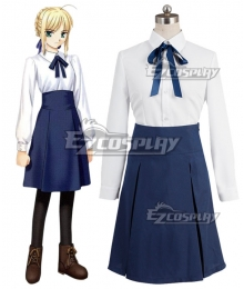 Fate Stay Night Saber Altria Pendragon King Arthur Cosplay Costume - A Edition