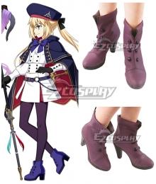 Fate Grand Order FGO Caster Artoria Pendragon Stage 2 Purple Cosplay Shoes