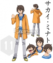 Gundam Build Fighters Try Minato sakai Cosplay Costume - Only Coat and T-shirt