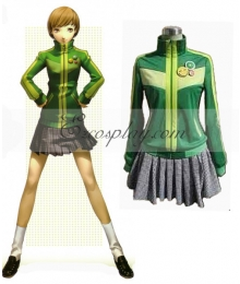 Persona 4 Satonaka Chie Green Cosplay Costume