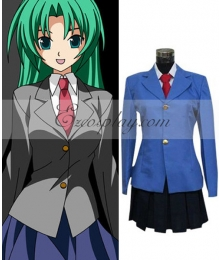 Higurashi When They Cry Sonozaki Mion School Uniform Cosplay Costume