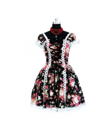 Tailor-made Motley Gothic Lolita Cosplay Costume ELT0007