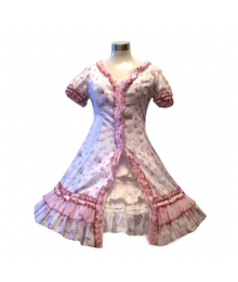 Garden Style Pink Broken Flower Dress Lolita Cosplay Costume