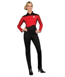 Star Trek Next Generation Red Jumpsuit Deluxe Adult Costume